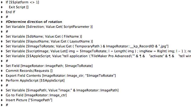Script to call AppleScript from FileMaker