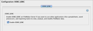 Enable ODBC in FileMaker Server