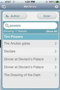 Book database in FileMaker Go (iPhone)