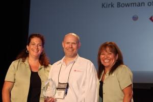 Receiving FileMaker Excellence Award